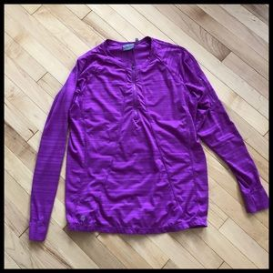 ❤️Athleta Purple 1/2 Zip Pullover